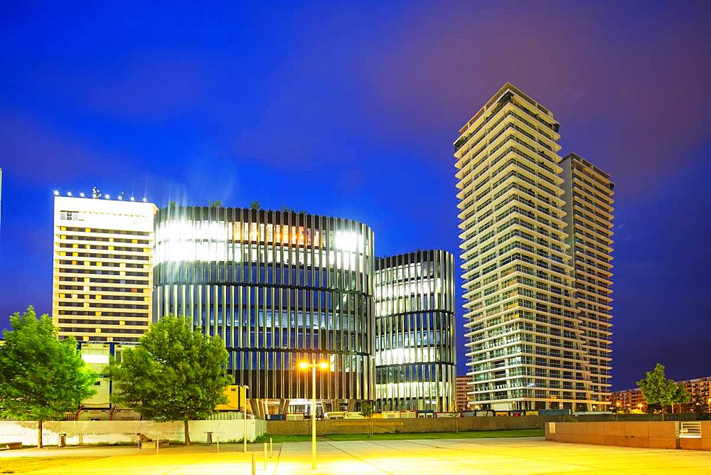 Pankrac business district, The V Tower residence, Prague, Bohemia, Czech Republic, Europe