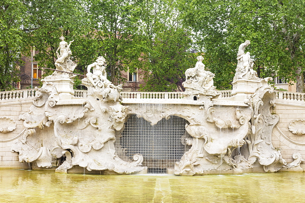 Europe, Italy, Piedmont, Turin, Neptune fountain