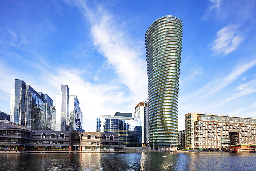 Europe, United Kingdom, England, London, Docklands, Canary Wharf, Harbour Exchange Tower