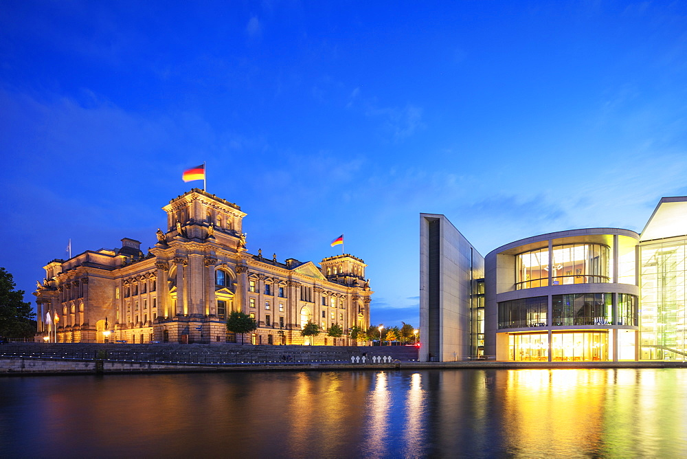 The Paul Lobe House legislative building next to the Reichstag, Berlin, Brandenburg, Germany, Europe - 733-8008