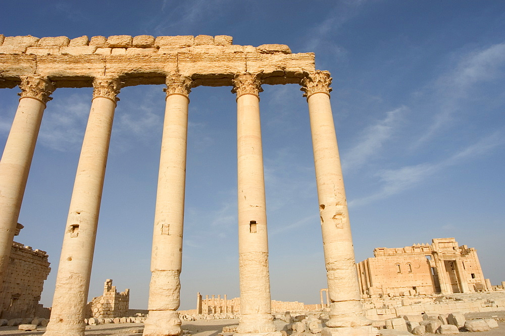 Temple of Bel, archaelogical ruins, Palmyra, UNESCO World Heritage Site, Syria, Middle East
