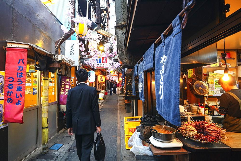 Yokocho food alley, Shinjuku, Tokyo, Japan, Asia