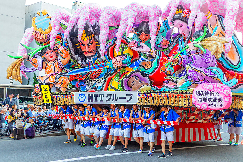 Nebuta festival floats, Aomori, Aomori prefecture, Tohoku, Honshu, Japan, Asia
