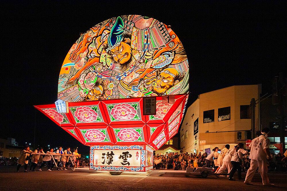 Giant taiko drum, Nebuta festival floats, Hirosaki, Aomori prefecture, Tohoku, Honshu, Japan, Asia