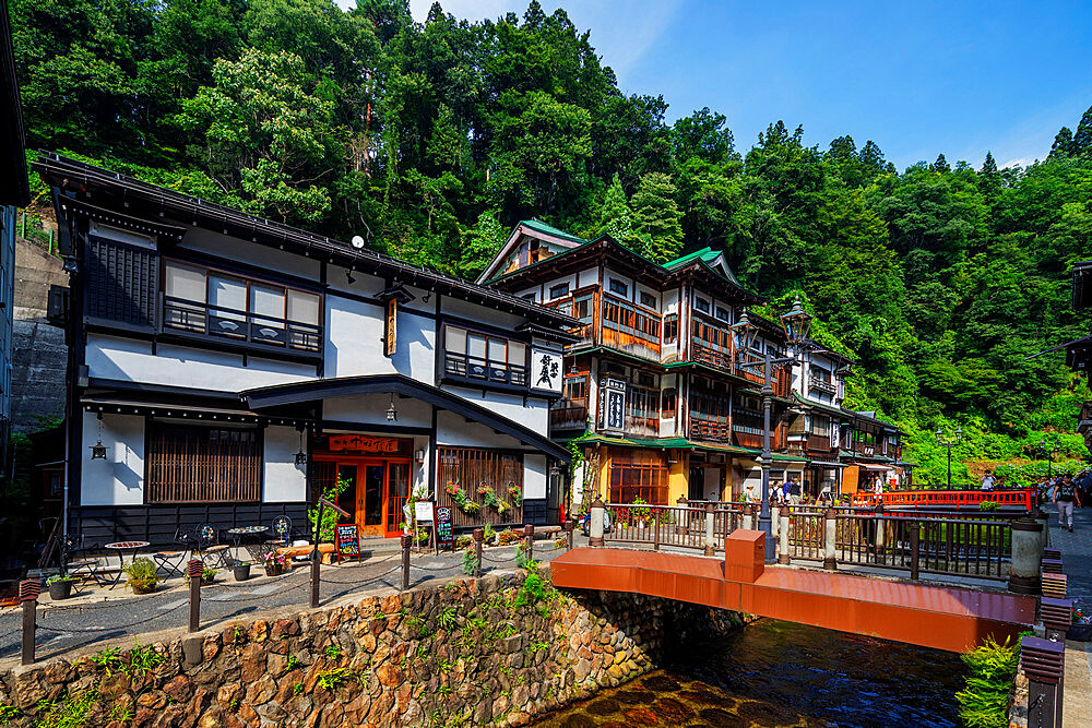 Japan, Honshu, Yamagata prefecture, Ginzan onsen