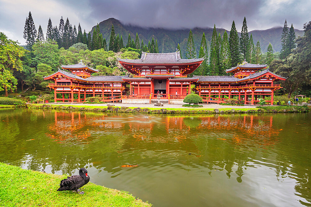 Byodo-in Japanese temple, Oahu Island, Hawaii, United States of America, North America - 733-9006
