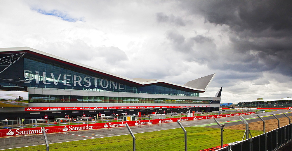 Silverstone Wing and pits at the British Grand Prix, Silverstone, Northamptonshire, England, United Kingdom, Europe - 734-138