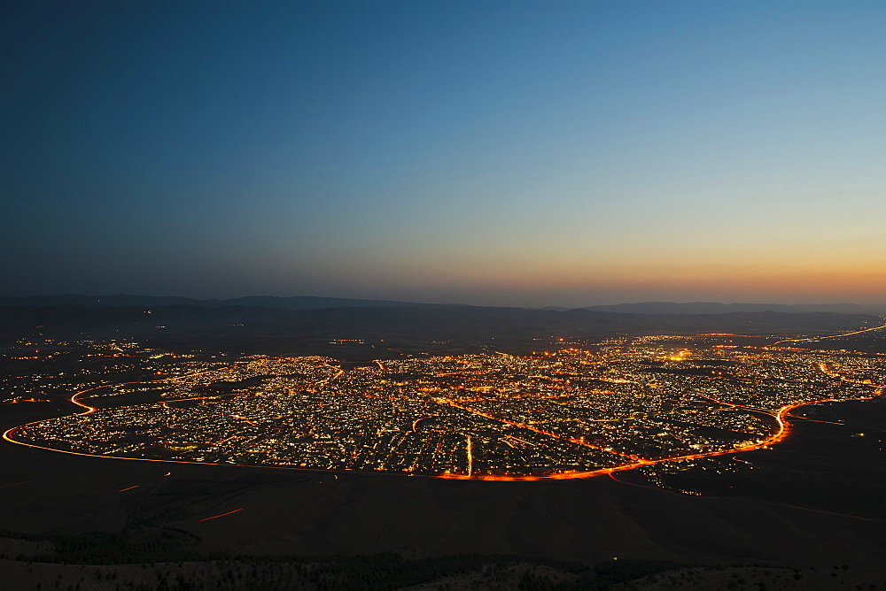 Sulaymaniyah at night, Iraq, Middle East - 734-153