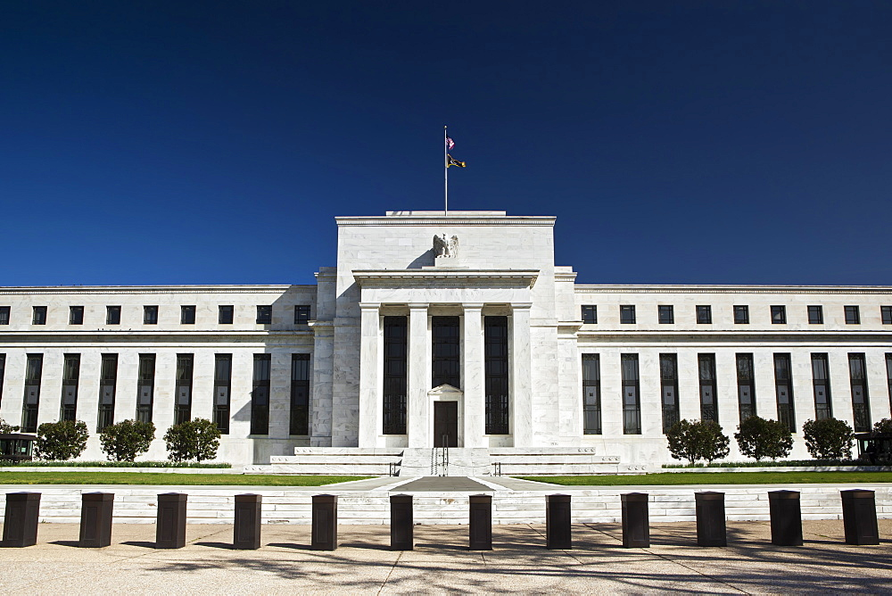 The United States Federal Reserve Building, Washington D.C., United States of America, North America - 734-246