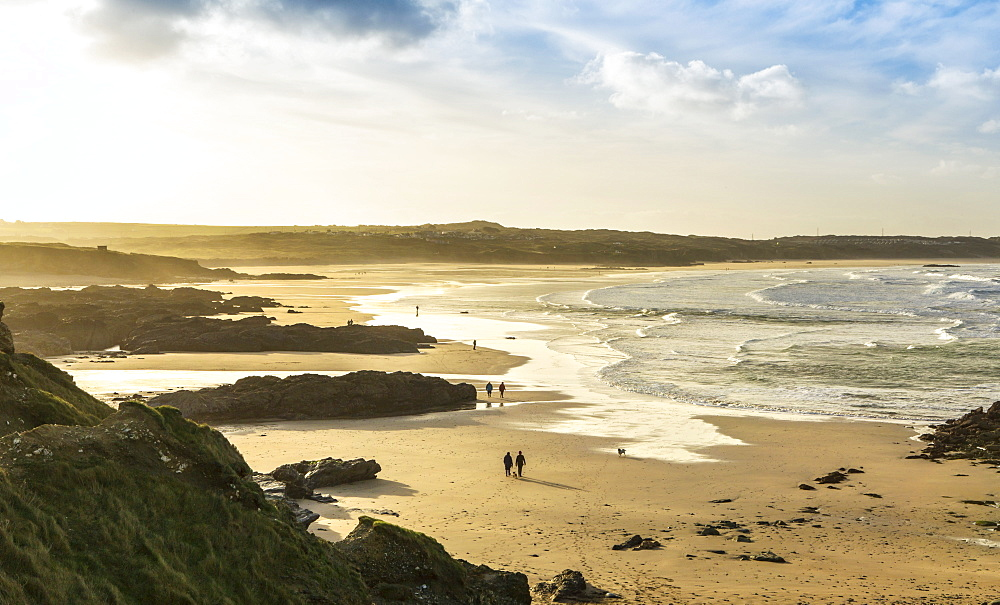 Sunrise at Gwithian Beach, Cornwall, England, United Kingdom, Europe - 734-268