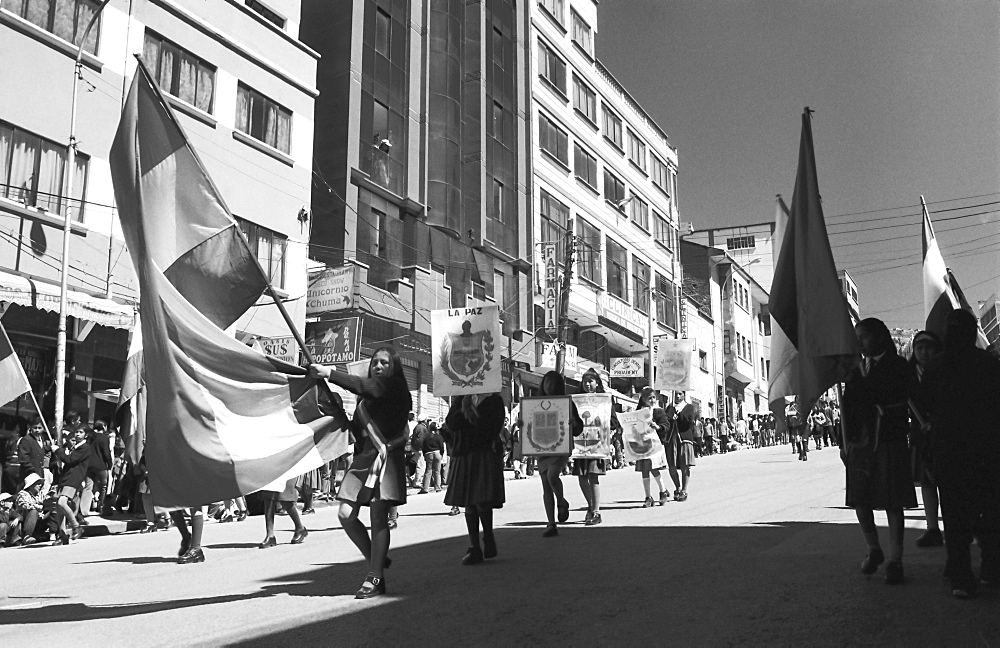 Independence Day parade, La Paz, Bolivia, South America