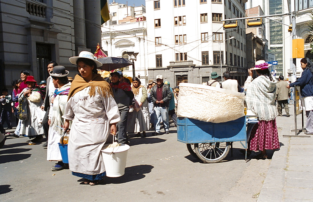Independence Day parade, La Paz, Bolivia, South America - 734-95
