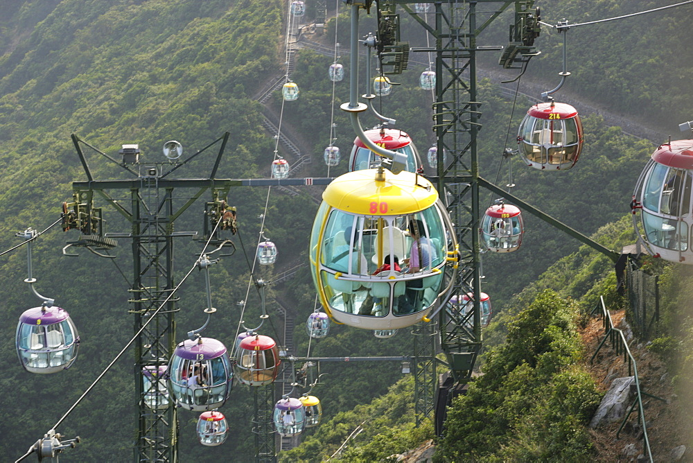 Cable car at Ocean Park, Hong Kong