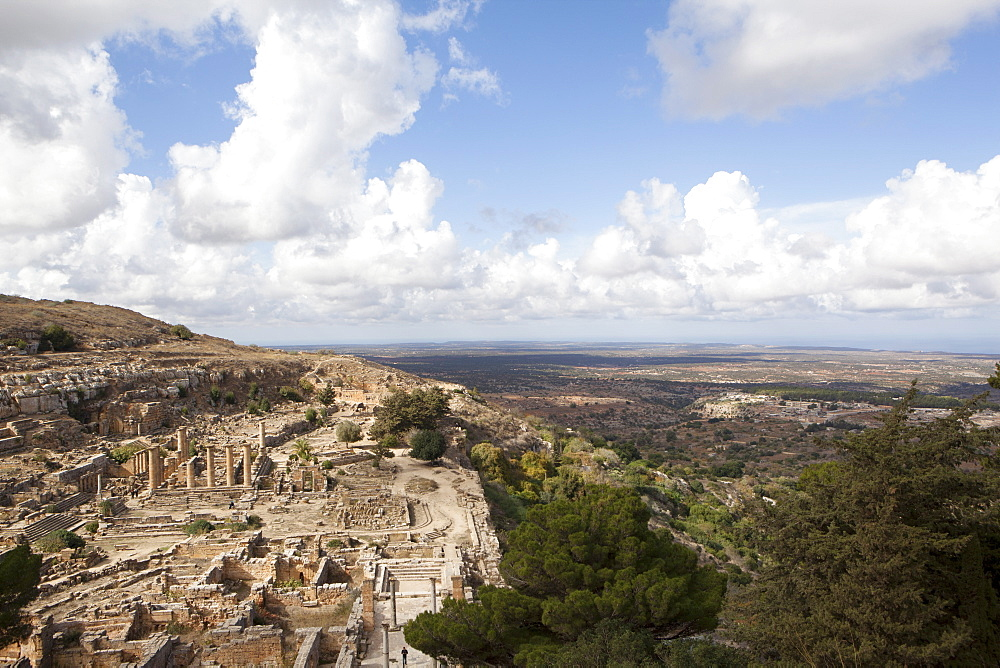 Cyrene, UNESCO World Heritage Site, founded in 630 BC on the top of the valley of the Jebel Akhdar, now Cyrenaica region, Libya, North Africa, Africa