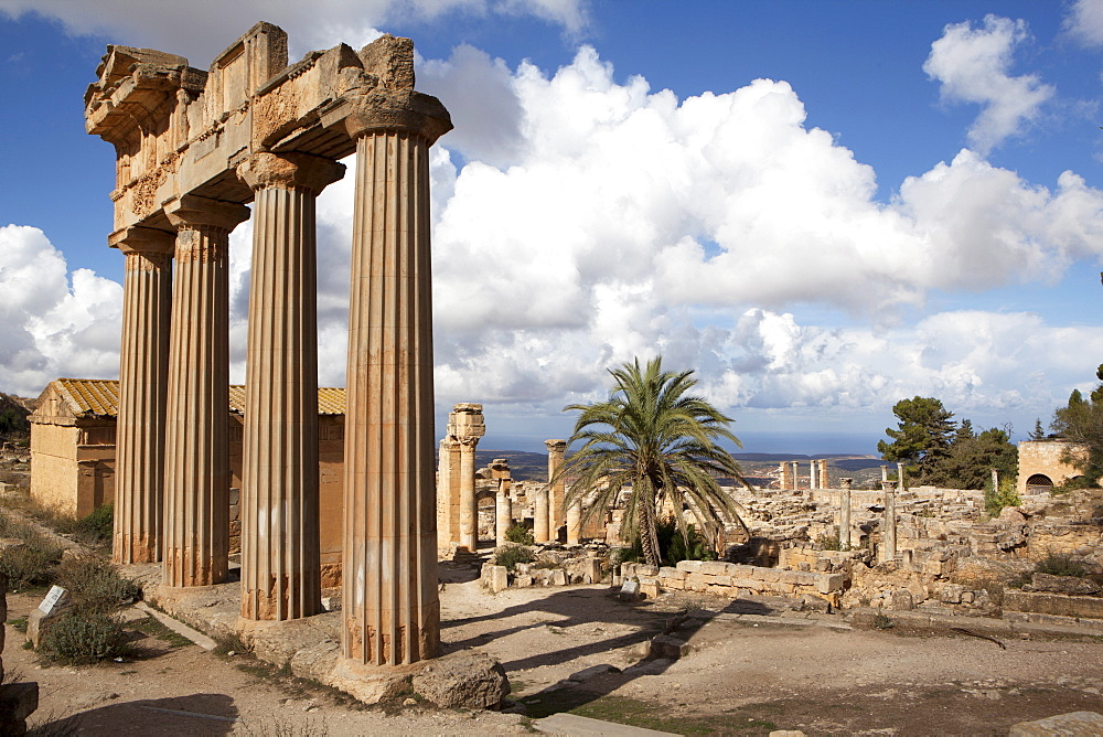 The Temple of Demeter, Cyrene, UNESCO World Heritage Site, Libya, North Africa, Africa