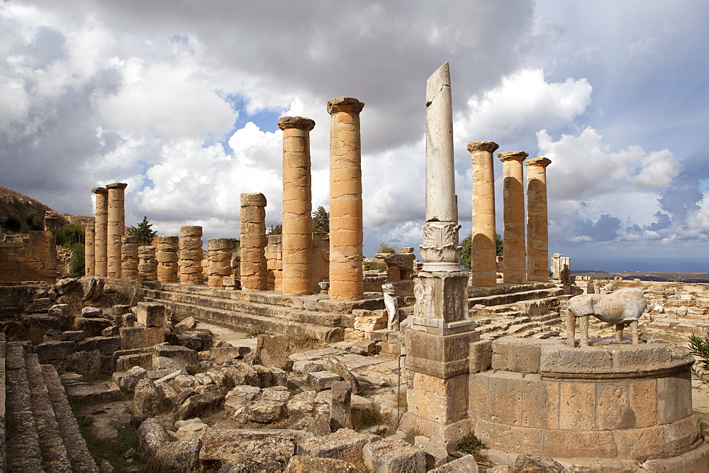 The Temple of Apollo, Cyrene, UNESCO World Heritage Site, Libya, North Africa, Africa