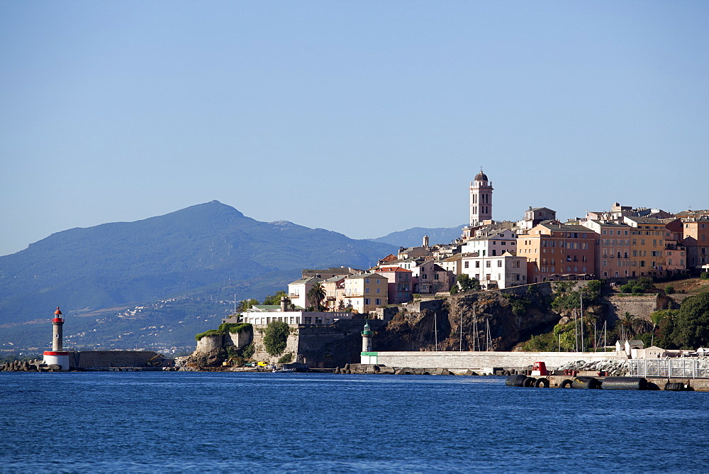 View of the old town, Bastia, Corsica, France, Mediterranean, Europe