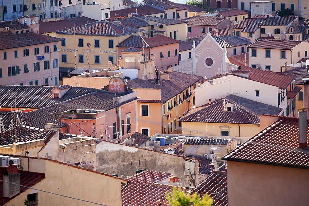 The town of Portoferraio, Elba, Italy, Europe - 739-1274