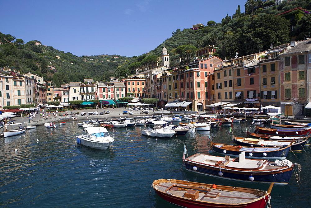 View of Portofino, Liguria, Italy, Mediterranean, Europe - 739-1280