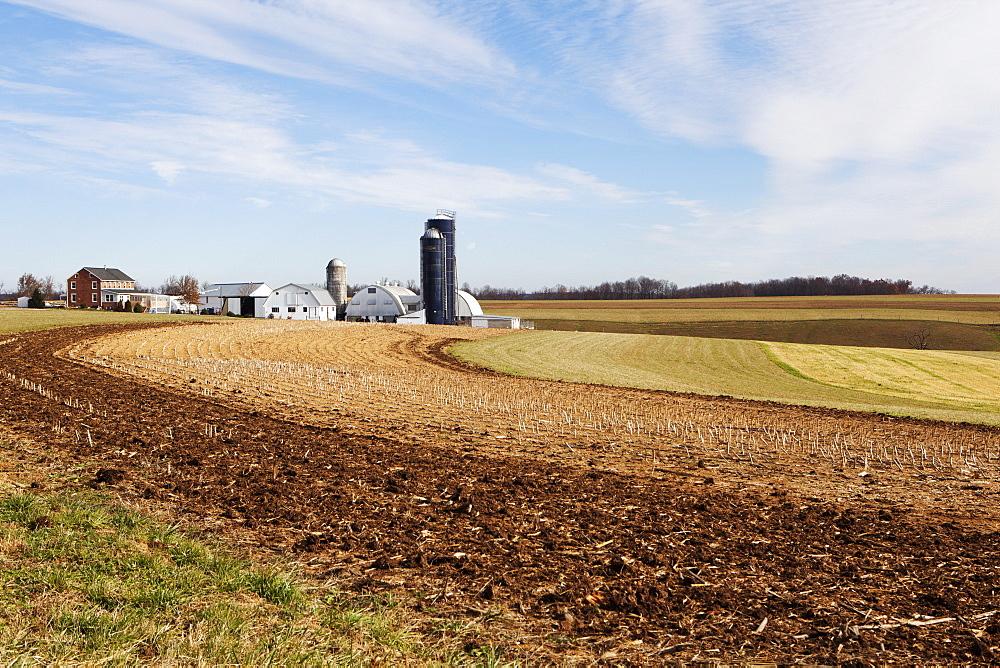 An Amish Farm, Pennsylvania, United States of America, North America - 739-1296