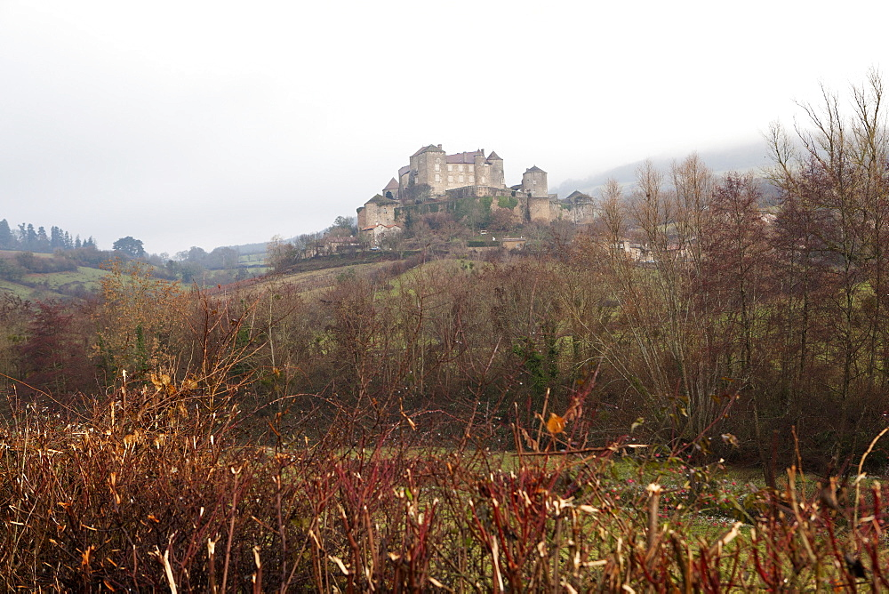 Castle of Berze-le-Chatel on the way to Cluny, Burgundy, France, Europe