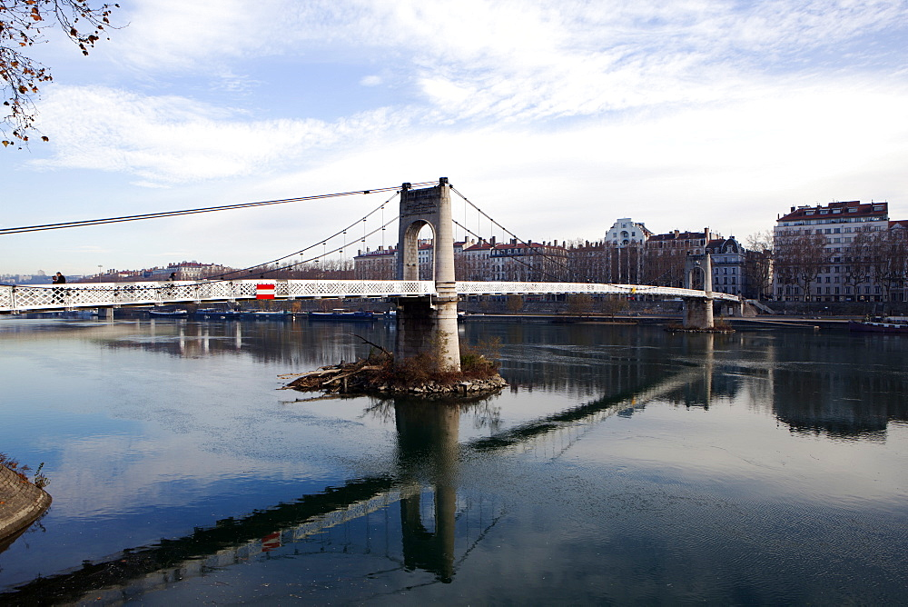 The River Rhone, Lyon, Rhone-Alpes, France, Europe