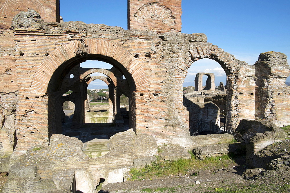 The Quintili brothers, Roman Consuls, built this magnificent villa in the year 151 BC on the Appian Way, Rome, Lazio, Italy, Europe - 739-1333