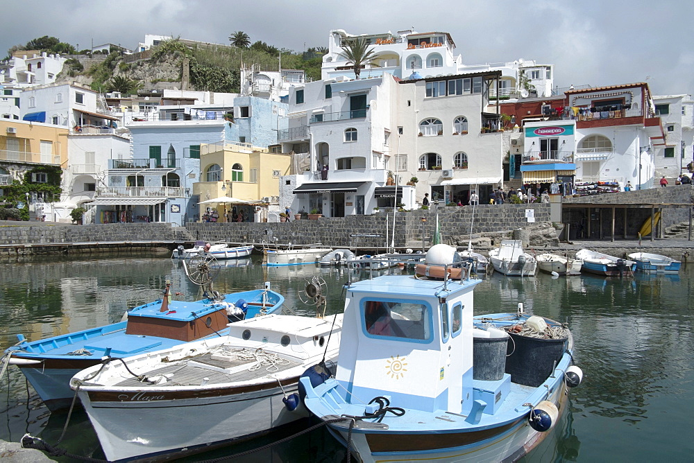 Fishing boats at Borgo Sant' Angelo, Ischia, Campania, Italy, Europe