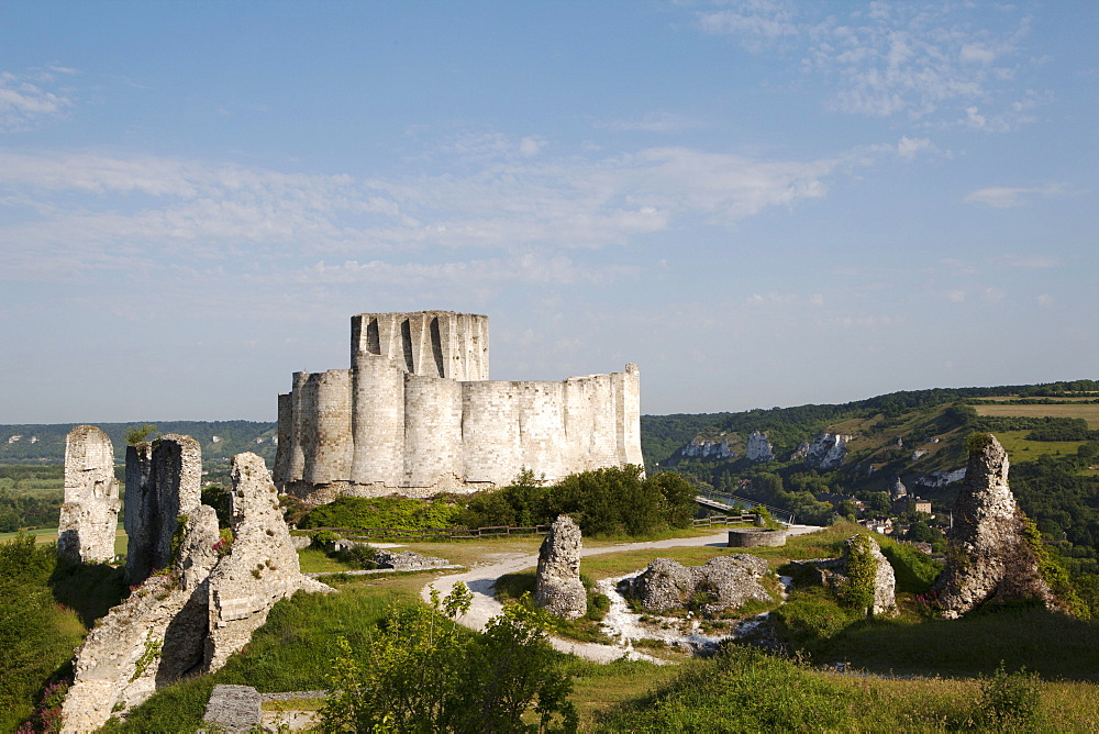 Chateau Gaillard, Les Andelys, Normandy, France, Europe - 739-1346