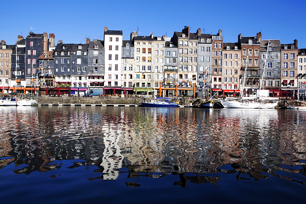 The port of Honfleur, Normandy, France, Europe - 739-1350