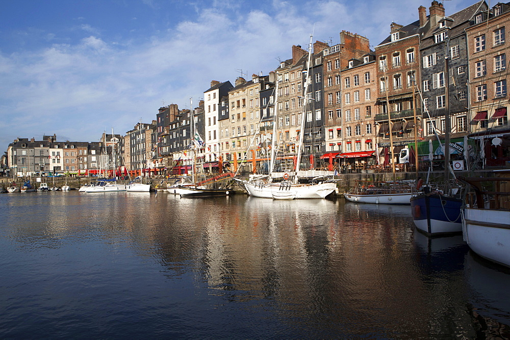 The port of Honfleur, Normandy, France, Europe - 739-1351