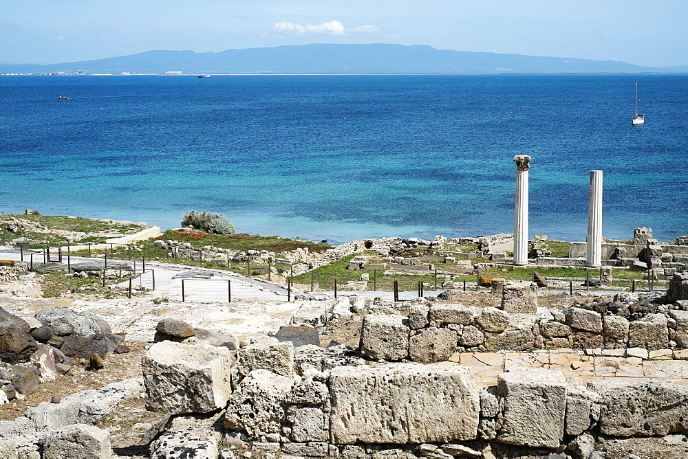 The Phoenician Roman port of Tharros, Sardinia, Italy, Mediterranean, Europe - 739-1365