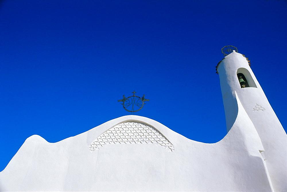 White church, Porto Cervo, Sardinia, Italy, Mediterranean, Europe