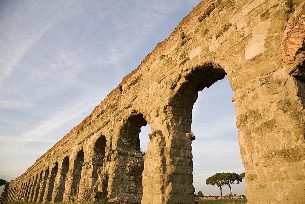 Claudian Aqueduct, the Appia road, Rome, Lazio, Italy, Europe