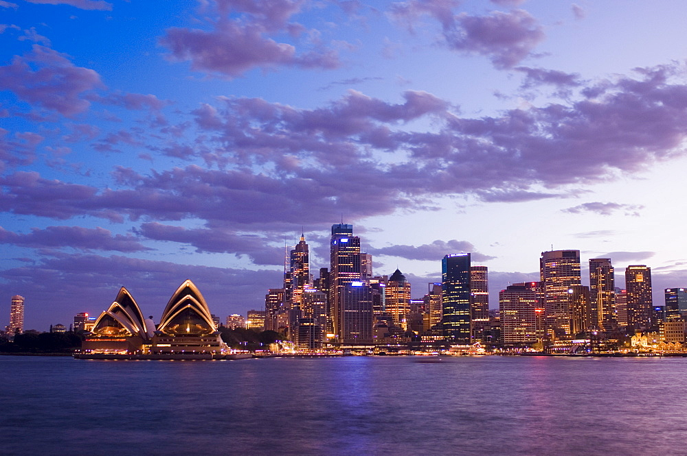 Opera House and city skyline, Sydney, New South Wales, Australia, Pacific