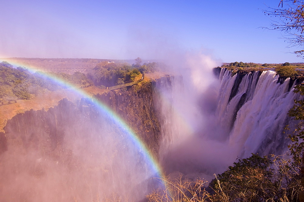 Victoria Falls, UNESCO World Heritage Site, Zambesi River, Zambia, Africa - 741-2775