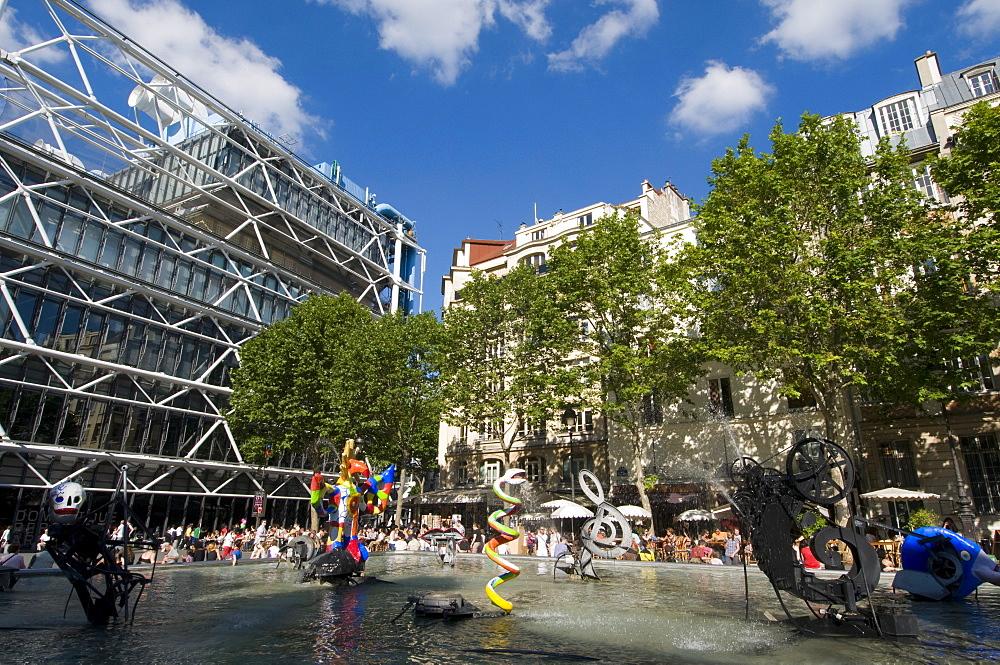 Centre Georges Pompidou, Beaubourg, Paris, France, Europe