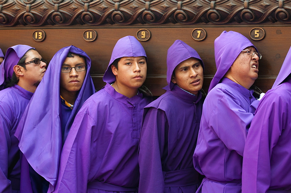 Holy Week Procession outfits in Antigua
