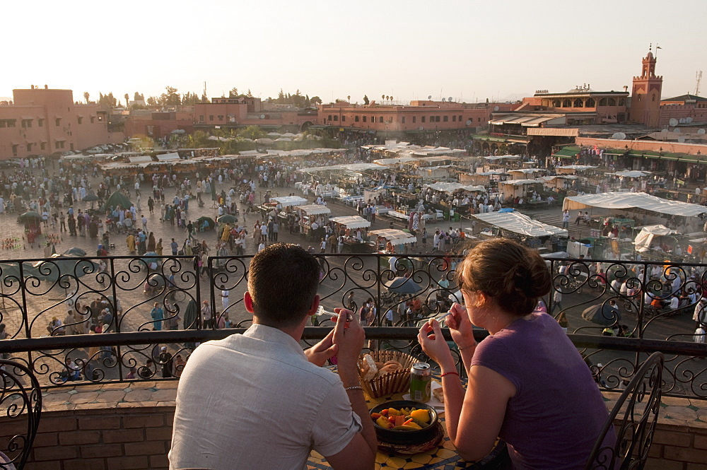Djemaa el Fna Square, Marrakech, Morocco, North Africa, Africa - 741-3476