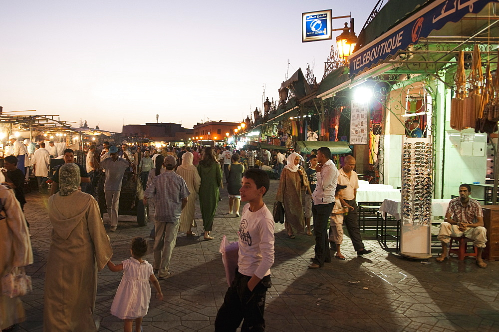 Djemaa el Fna Square, Marrakech, Morocco, North Africa, Africa