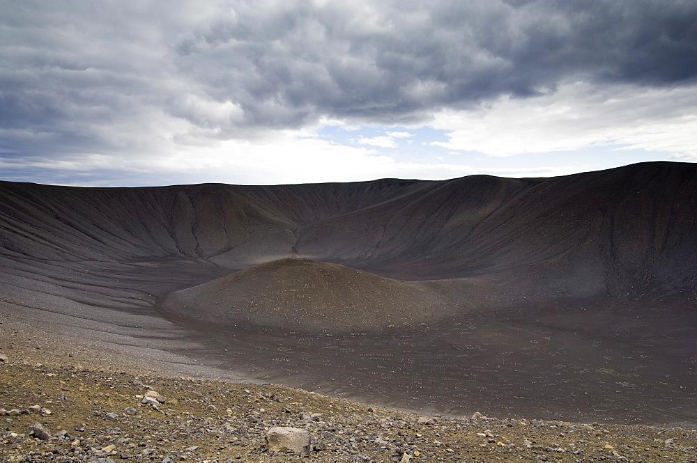 Hverfjall volcano, Reykjahlid, Iceland, Polar Regions