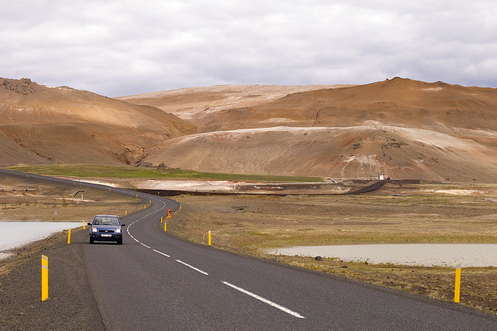 Road near Lake Myvatn, Reykjahlid, Iceland, Polar Regions