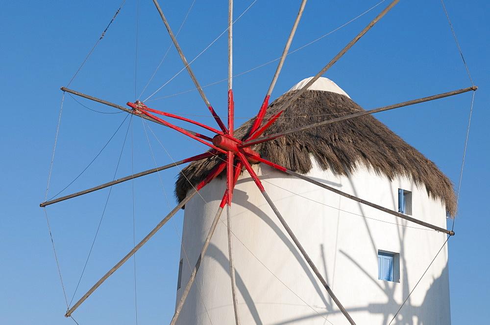 Windmills, Mykonos Town, Chora, Mykonos, Cyclades, Greek Islands, Greece, Europe
