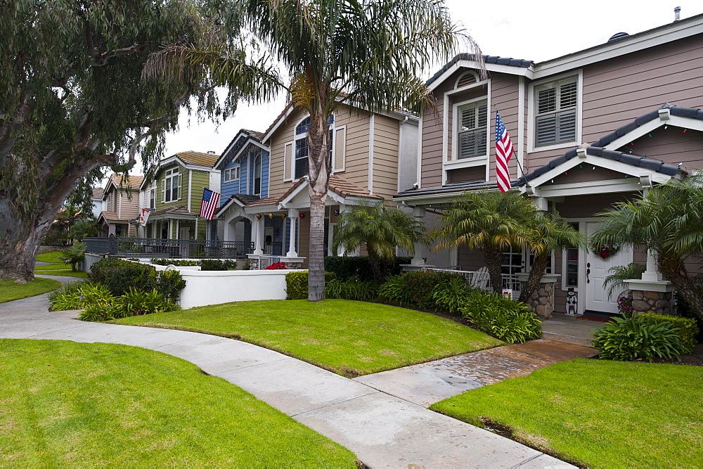 House in Pine Street, Huntington Beach, California, United States of America, North America