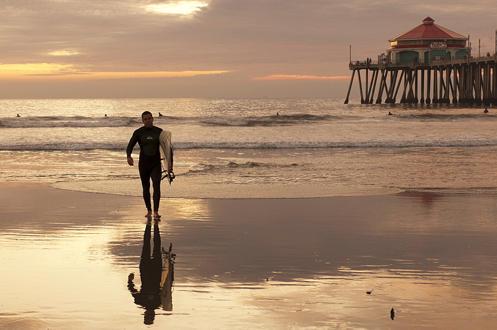 Surfer, Huntington Beach, California, United States of America, North America
