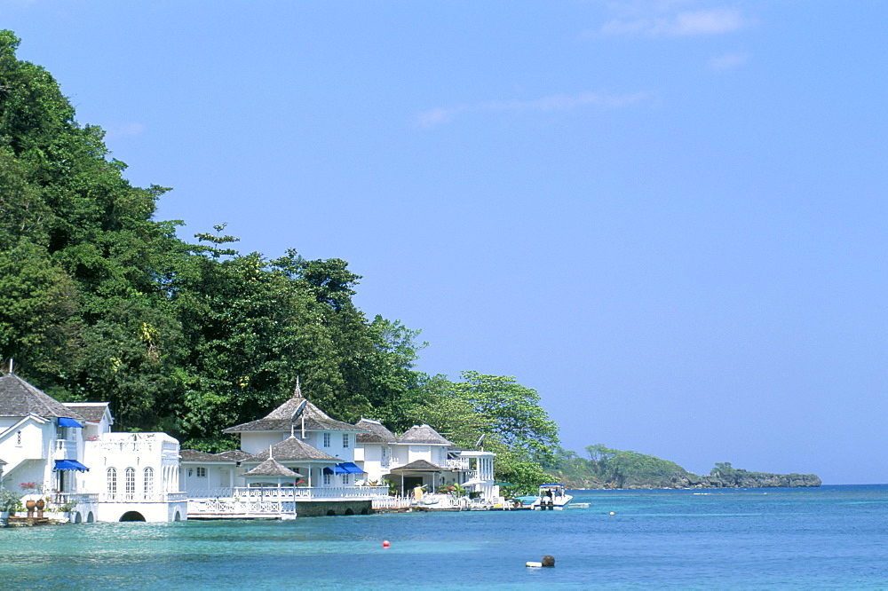 Residential houses near Blue Lagoon, Port Antonio, Jamaica, West Indies, Central America