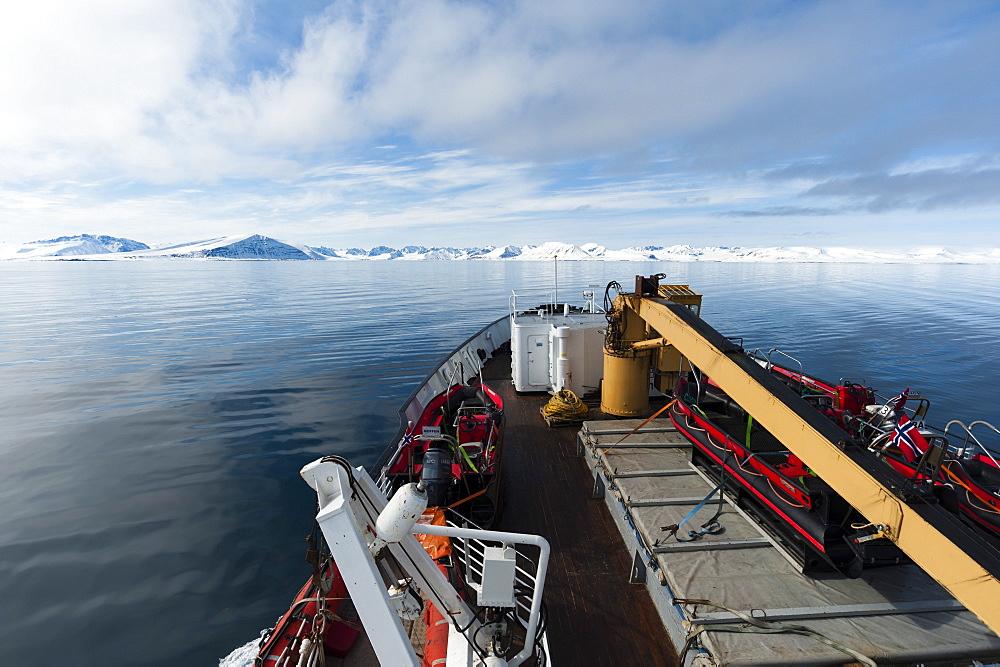 MS Nordstjernen Cruise Ship, Monaco Glacier, Spitzbergen, Svalbard Islands, Norway, Scandinavia, Europe