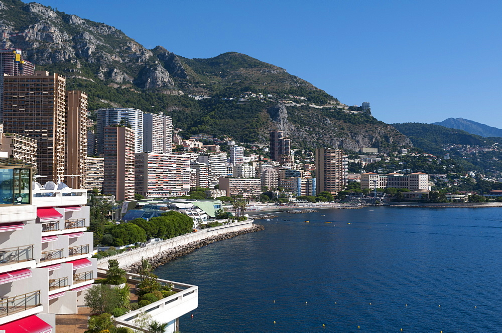 Larvotto Bay, Monte Carlo, Principality of Monaco, Cote d'Azur, Mediterranean, Europe