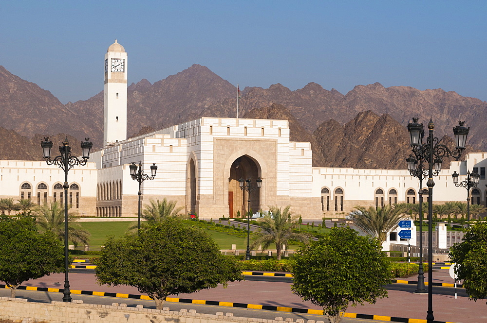 Parliament building in Al Bustan district, Muscat, Oman, Middle East