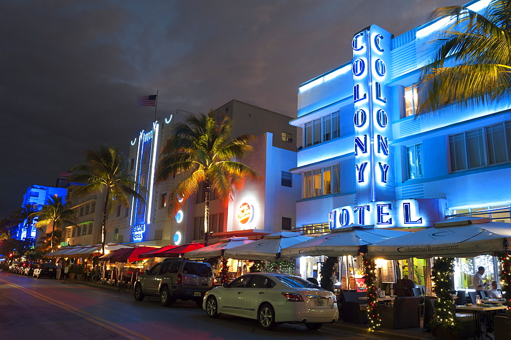 Colony Hotel, Ocean Drive, South Beach, Miami Beach, Florida, United States of America, North America
